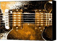 Music Pyrography Canvas Prints - Sg 3 Canvas Print by Jerry Killian