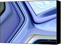 Pixel Bending Canvas Prints - Shades of Blue Canvas Print by Greg Reed Brown