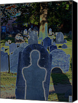 Creepy Digital Art Canvas Prints - Shadow Grave  Canvas Print by First Star Art