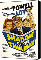 Fod Canvas Prints - Shadow Of The Thin Man, Myrna Loy Canvas Print by Everett