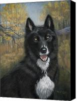 Wolf Pastels Canvas Prints - Shadow Canvas Print by Teresa LeClerc