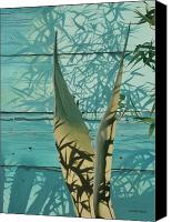 Hyperrealism Canvas Prints - Shadowed Agave Canvas Print by Michael Earney