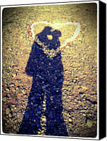 Kissing Canvas Prints - Shadows Of Couple Kissing Over Heart Of Stones Canvas Print by Daniel MacDonald / www.dmacphoto.com