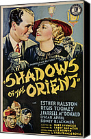 1935 Movies Canvas Prints - Shadows Of The Orient, From Left, Top Canvas Print by Everett