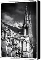European Union Canvas Prints - Shadows on Notre Dame Canvas Print by John Rizzuto