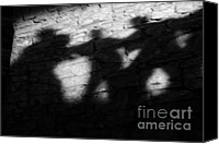 Shadows Canvas Prints - Shadows on the Wall of Edinburgh Castle  Canvas Print by Christine Till