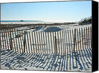 Sand Fences Canvas Prints - Shadows Canvas Print by Teresa Proctor