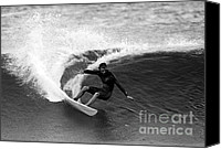 Surfers Canvas Prints - Shane Surf Carving in Black and White Canvas Print by Paul Topp
