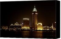 Skylines Canvas Prints - Shanghais Bund is back to its best Canvas Print by Christine Till