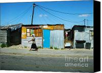 Poverty Canvas Prints - Shanty Canvas Print by Andrew Paranavitana