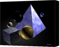 Space Art Drawings Canvas Prints - Shapes In Space Canvas Print by James Puckett