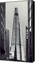 Construction Canvas Prints - Shard of Glass Canvas Print by Jasna Buncic