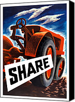 Tractor Canvas Prints - Share Canvas Print by War Is Hell Store