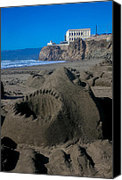Sandy Beach Canvas Prints - Shark sculpture Canvas Print by Garry Gay