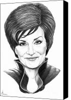 Got Canvas Prints - Sharon Osbourne Canvas Print by Murphy Elliott
