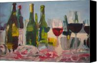 Spilled Wine Canvas Prints - Shattered Dreams Canvas Print by Steve Mullins