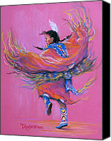 Pow Wow Canvas Prints - Shawl Dancer Canvas Print by Tanja Ware