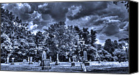Haunted Pastels Canvas Prints - Shawnee Cemetery Canvas Print by Jackie Novak