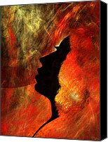 Fine Art Fractal Art Canvas Prints - She is Fire Canvas Print by Paul St George