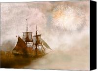 Fireworks Canvas Prints - She Returns Home Canvas Print by Jeff Burgess