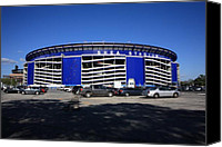 Shea Stadium Canvas Prints - Shea Stadium - New York Mets Canvas Print by Frank Romeo