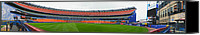 Ny Mets Canvas Prints - Shea Stadium Pano Canvas Print by Dennis Clark
