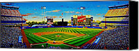 Shea Stadium Painting Canvas Prints - Shea Stadium Canvas Print by T Kolendera