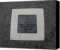 Mlb Canvas Prints - Shea Stadium Third Base Canvas Print by Rob Hans