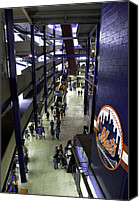 Stadium Design Canvas Prints - Shea Stadium Walkways Canvas Print by Paul Plaine