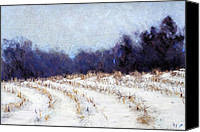 Cornfield Pastels Canvas Prints - Sheep Hill Canvas Print by Kenneth DelGatto