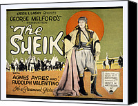 Posth Canvas Prints - Sheik, Rudolph Valentino, 1921 Canvas Print by Everett