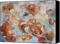 Susan Hanlon Canvas Prints - Shell Impression I Canvas Print by Susan Hanlon