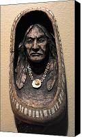 Native American Ceramics Canvas Prints - Shell Necklace Canvas Print by Gaylon Dingler
