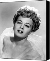 Tulle Canvas Prints - Shelley Winters, 1951 Canvas Print by Everett