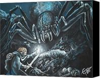 Lord Of The Rings Painting Canvas Prints - Shelob Canvas Print by Tom Carlton