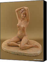 Female Nude Ceramics Canvas Prints - Shenel Canvas Print by Scott Russo