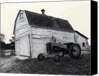 Old Trucks Canvas Prints - Sherrys Barn Canvas Print by Bryan Baumeister