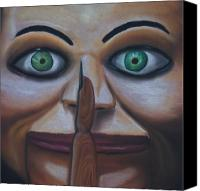 Evil Pastels Canvas Prints - Shhh Canvas Print by Joe Dragt