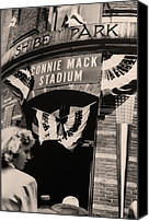 Phillies Canvas Prints - Shibe Park - Connie Mack Stadium Canvas Print by Bill Cannon