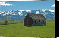 Featured Photo Canvas Prints - Shields Valley Abandoned Farm Ranch House Canvas Print by Bruce Gourley