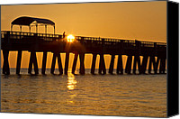 Florida Bridge Canvas Prints - Shine Canvas Print by Debra and Dave Vanderlaan
