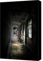 Abandoned Structures Canvas Prints - Shine Through Canvas Print by Emily Stauring