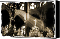 Notre Dame Canvas Prints - Shinning Through Canvas Print by Mike McGlothlen