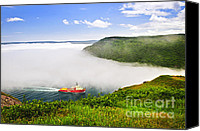 Canada Canvas Prints - Ship entering the Narrows of St Johns Canvas Print by Elena Elisseeva