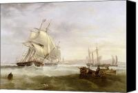 Frigate Canvas Prints - Shipping off Hartlepool Canvas Print by John Wilson Carmichael