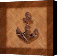 Earth Tones Canvas Prints - Ships Anchor Canvas Print by Tom Mc Nemar
