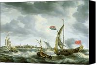 Storm Painting Canvas Prints - Ships at Sea  Canvas Print by Bonaventura Peeters