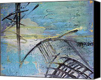 Storm Painting Canvas Prints - Shipwreck Canvas Print by Ethel Vrana