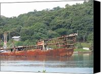 Ship Wreck Canvas Prints - Shipwreck Canvas Print by Vijay Sharon Govender