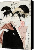 Hairstyle Photo Canvas Prints - SHIRAI GONPACHI, c1798 Canvas Print by Granger
